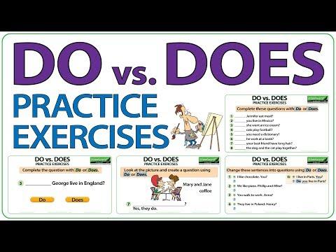 DO Vs. DOES - English Practice Exercises - YouTube