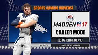 Madden NFL 17 - Billie Bravo (QB) Career Mode EP3 - Week 3 vs Bengals