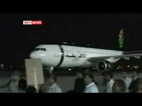 "CONVICTED TERRORIST Abdel Baset al-Megrahi AKA ""The Lockerbie Bomber"" gets HERO'S WELCOME in LYBIA"