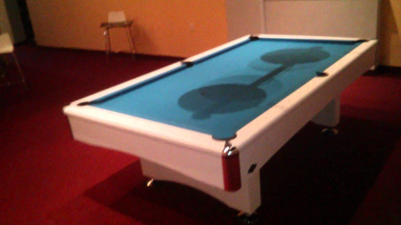 Eliminator White YouTube - Eliminator pool table