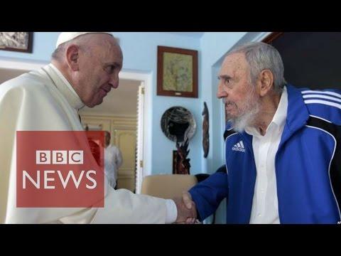 Cuba: Pope Francis meets Fidel Castro after Havana Mass - BBC News
