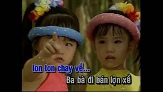 Ba Bà Đi Bán Lợn Con ✔ Karaoke Thiếu Nhi (HD)