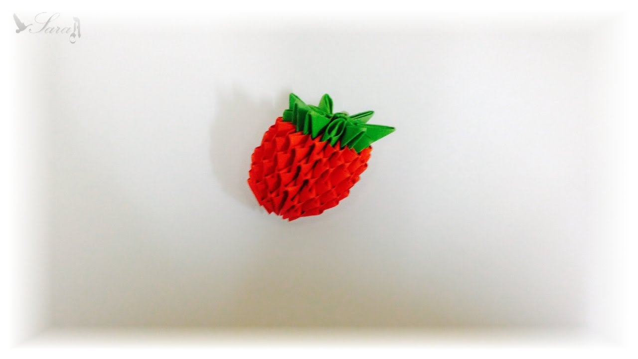 3d origami strawberry youtube