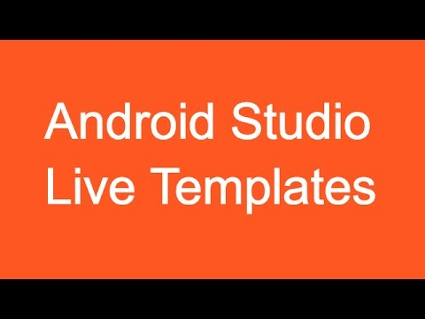 212 Android Studio Live Templates |