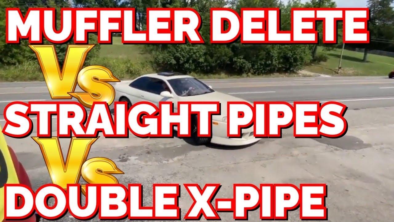 Lexus SC 400 4.0L V8: MUFFLER DELETE Vs STRAIGHT PIPES Vs DOUBLE X PIPE!
