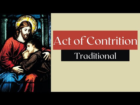 Act Of Contrition (Traditional) | Confession prayer