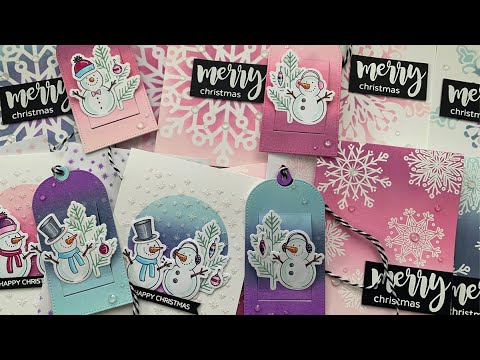 Distress Oxide Ink Blending For 10 Christmas Cards & 4 Tags | AmyR 2019 Christmas Series #16