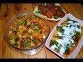 Bir Birinden Lezzetli Üç Eser Bir Arada Üç Tarif (Fried Potatoes/Peppers With Yogurt/Tomatoes)