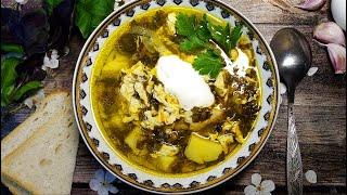 Щавелевый суп с курицей и яйцом 🌟 Sorrel soup with chicken and egg