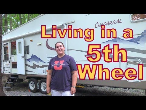 Tour of a Woman Living and Working in a 5th Wheel as a Speech Therapist