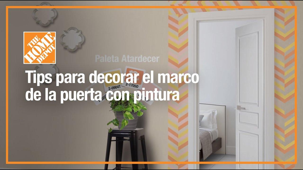 Tips para decorar el marco de tu puerta con pintura - YouTube
