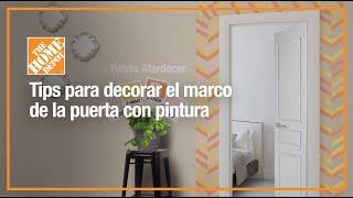 Gambar cover Tips para decorar el marco de tu puerta con pintura