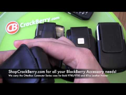 BlackBerry Bold 9780/9700 OtterBox Commuter Series case used with a BlackBerry 8700 Leather Holster