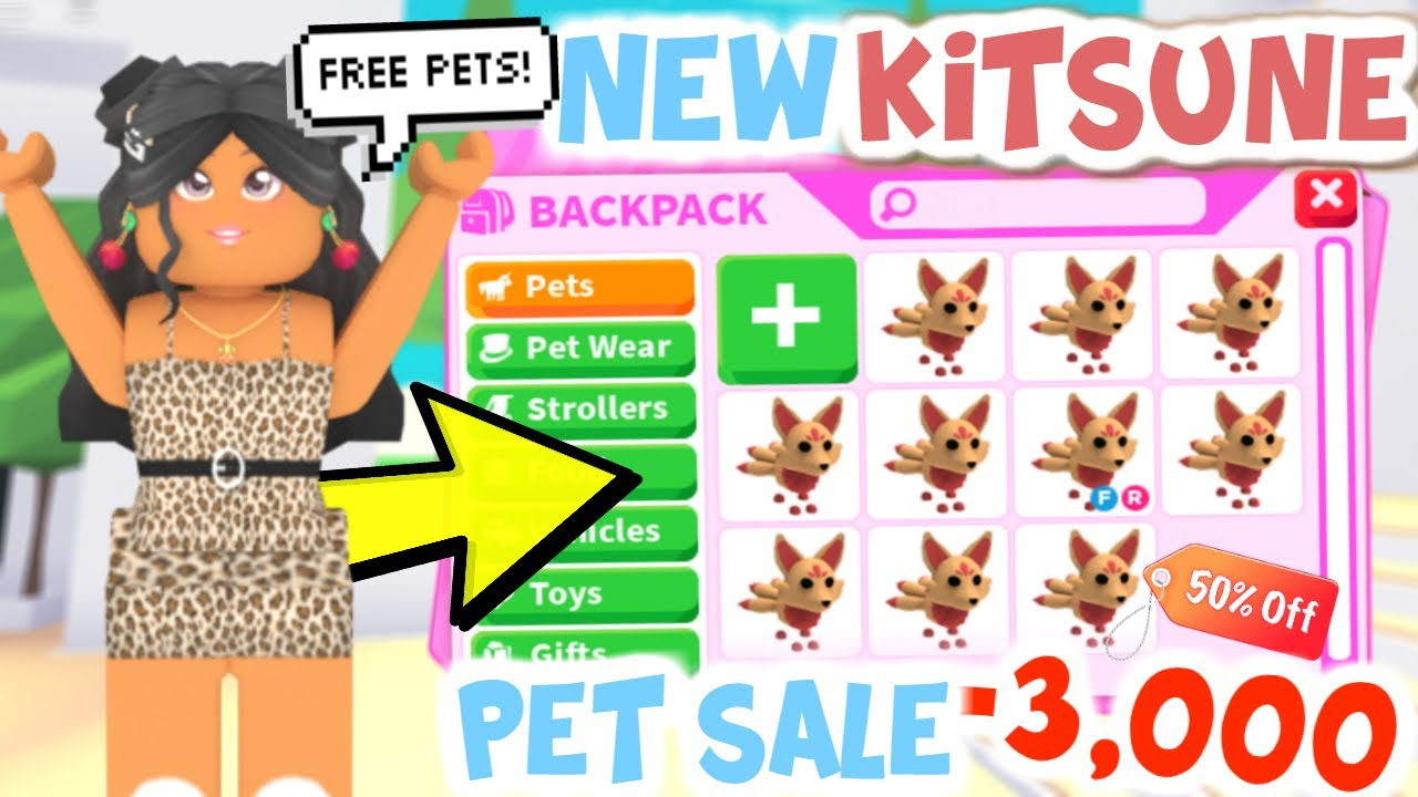 *NEW* BUYING KITSUNE Pet in Adopt Me + GIVEAWAY FREE PETS!!! | SunsetSafari