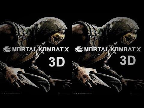 Mortal Kombat X 3D VR box TV video Side by Side SBS  google cardboard