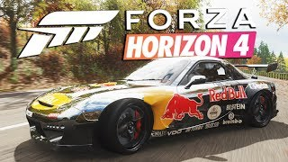 Zagrajmy w FORZA HORIZON 4 PL #22 - MAZDA RX-7 POD DRIFT! - 1440p