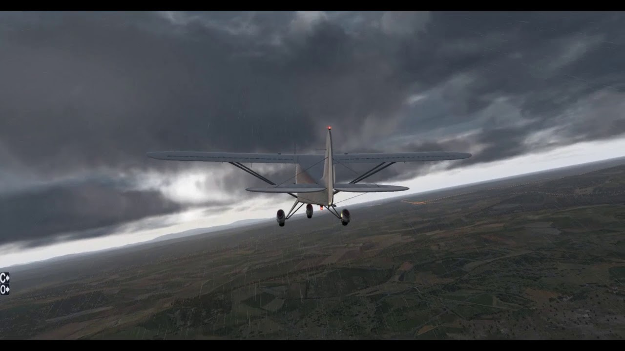 Piper PA-22 Tri-Pacer -- Airplane Vs  Tropical Storm -- X-Plane 11 11