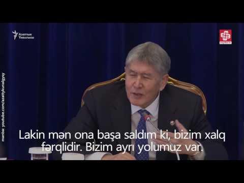 """Almazbek Atambayev: """"Putin mənə hakimiyyətdən getmə dedi."""""""