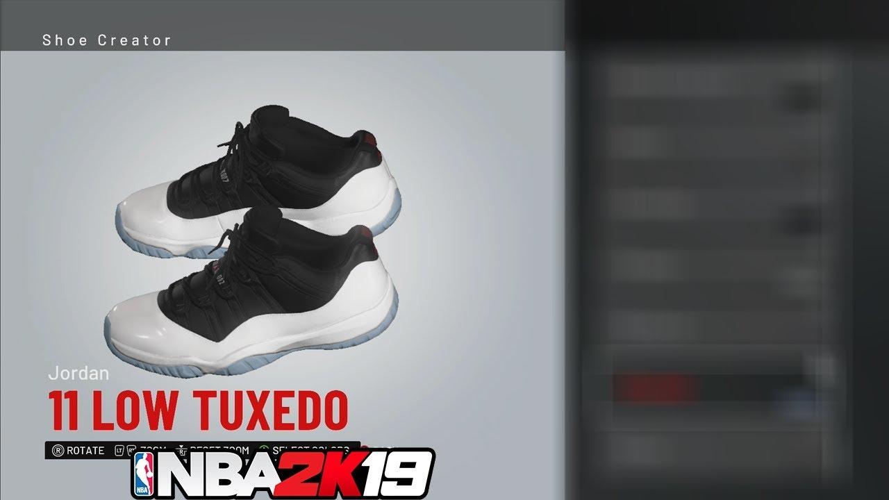 NBA 2K19 Shoe Creator Jordan 11 Low