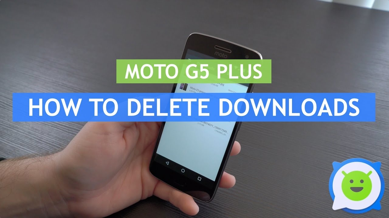 Moto G5 Plus - How to delete downloads