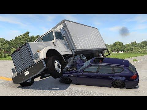 Trucks vs. Cars: Side Impact Crashes   BeamNG.drive