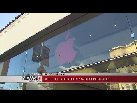 Apple hits record $78 billion in sales