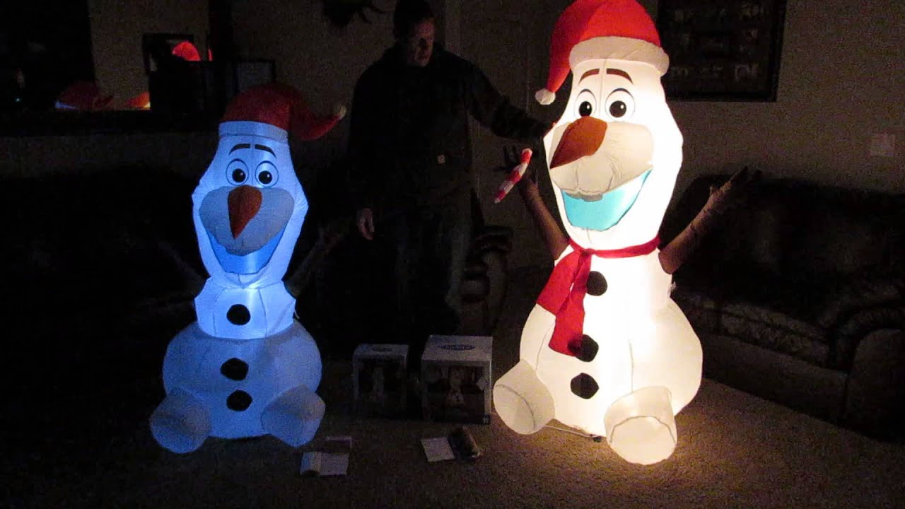 christmas inflatable olaf from disneys frozen 6 feet vs 5 feet youtube - Disney Inflatable Christmas Decorations