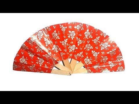 How to make a Hand Fan By Paper # DIY Paper hand Fan # Japanese hand Fan Making