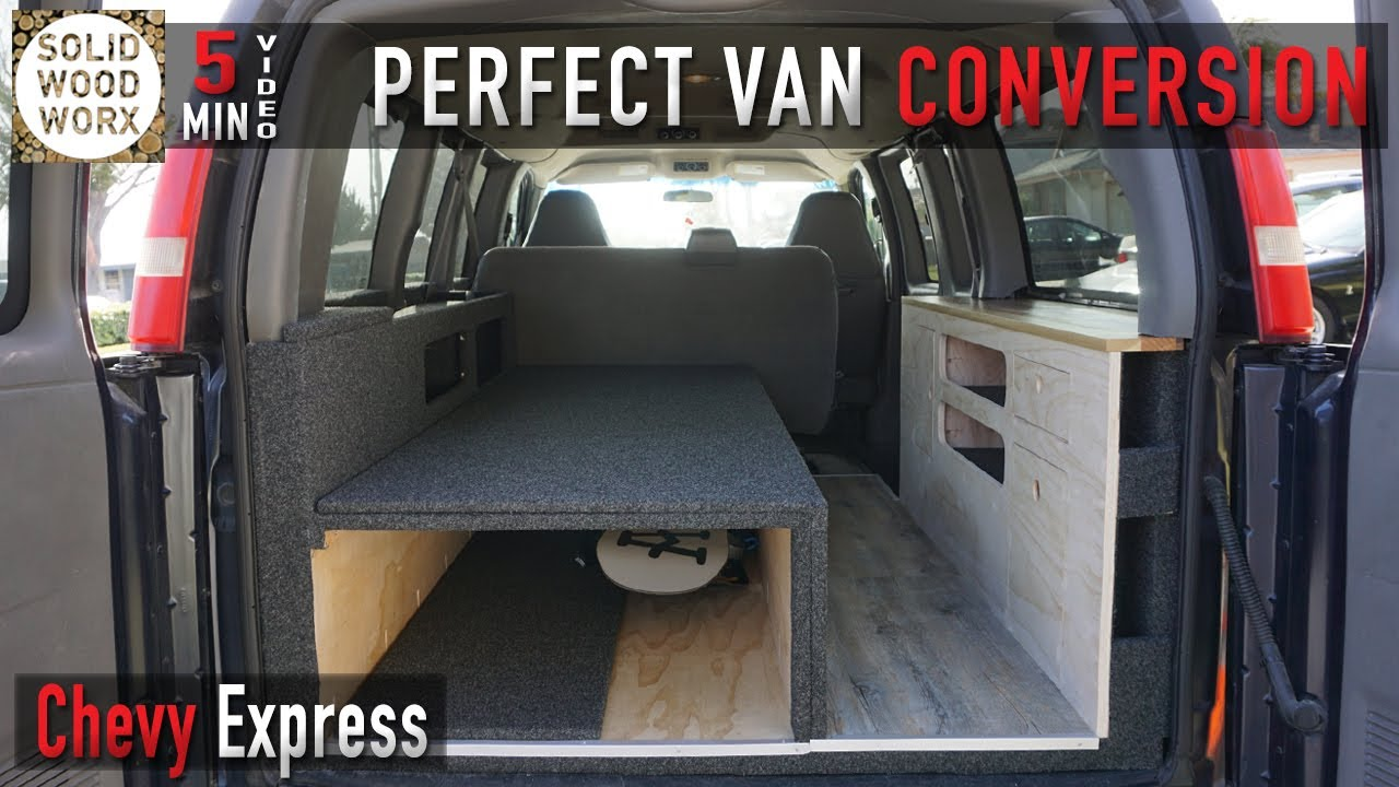 The perfect van conversion with collapsable bed and kitchen area!