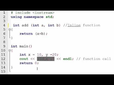 C Lesson 8 7 Inline Functions FunnyCat TV