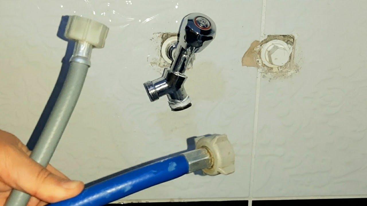Çamaşır makinesi kurulumu ve musluk bağlantısı | Hem çift hem de tek girişli makine