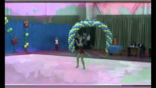 Мякшева Регина КМС художественная гимнастика упражнение с мячом  г Бишкек Кыргызстан1196г р