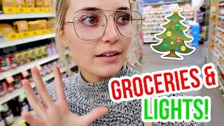 UNPREPARED GROCERY SHOPPING + HANGING CHRISTMAS LIGHTS!