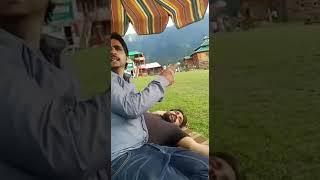 Quaid e Talba Ch Amjad Hussain Jutt is talking funny in Neelam Valley at Aran Kel.