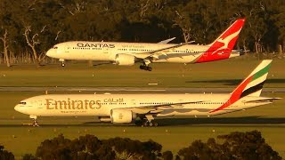 BUSY MORNING RUSH MADNESS | B777 A380 A350 | Melbourne Airport Plane Spotting