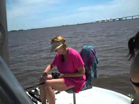 Sabine pass sabine lake 04 06 2012 fishing youtube for Sabine pass fishing report