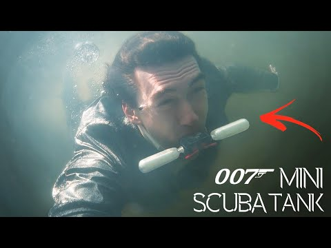 Working 007 Mini Scuba Tank! - Breath Underwater With This Spy Gadget