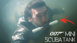 Working 007 Mini Scuba Tank! - Breath Underwater With This Spy Gadget
