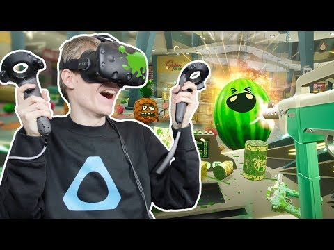 Download Youtube: VIRTUAL REALITY FRUIT WAR! | Shooty Fruity VR (HTC Vive Gameplay)