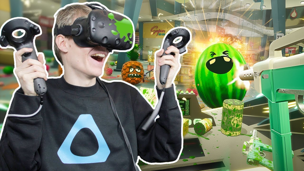 VIRTUAL REALITY FRUIT WAR! | Shooty Fruity VR (HTC Vive Gameplay)