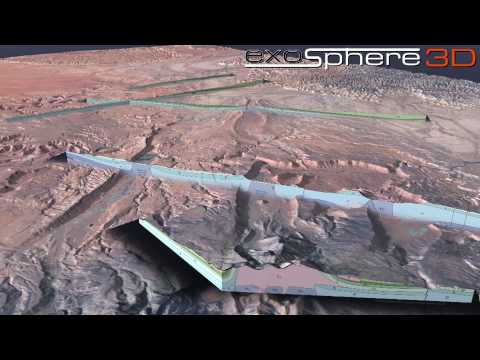Green River Utah Structural Geology 3D Visualization (Landsat Image)