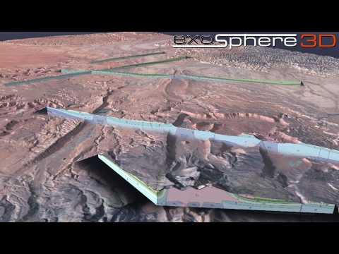 Green River Utah Structural Geology 3D Visualization (Landsat Image)