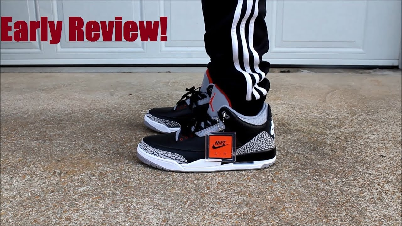 reputable site ad8d6 8ee3e Black Cement 3 2018 Early On Feet Review!