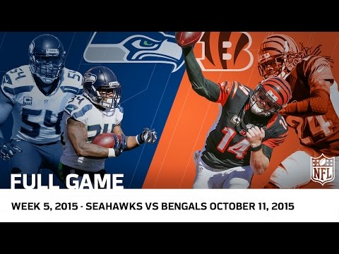Bengals Big Comeback for OT Win vs. Seahawks (Week 5, 2015) | NFL Full Game