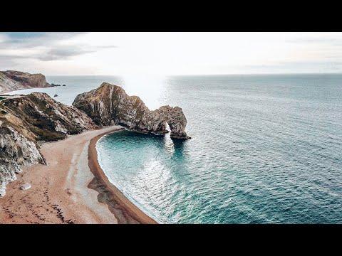 U.K. Coastline By Drone || 4K