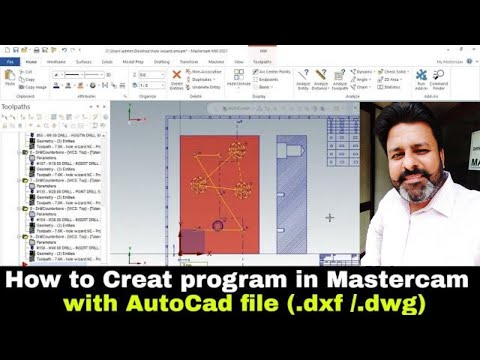 Mastercam 2021 tutorials | How to run AutoCad file in mastercam and run the cnc programme tutorial