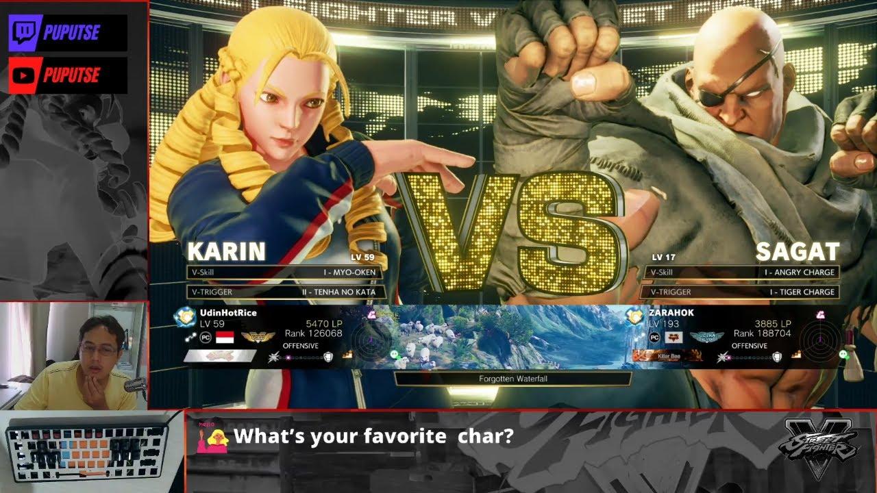 Street Fighter V Online Ranked & Casual Match Karin VS Sagat #109