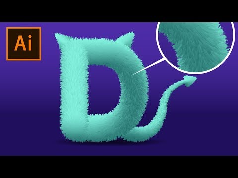 How to Create Realistic 3D Fur Effect in Adobe Illustrator Tutorial