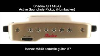 Blackbird - Shadow SH 145-G pickup test