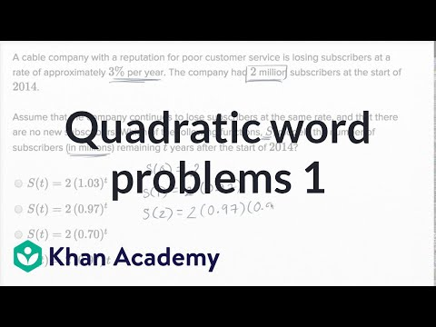 Quadratic And Exponential Word Problems — Basic Example | Math | New SAT | Khan Academy